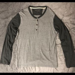 Banana Republic Long Sleeve Shirt Gray Medium